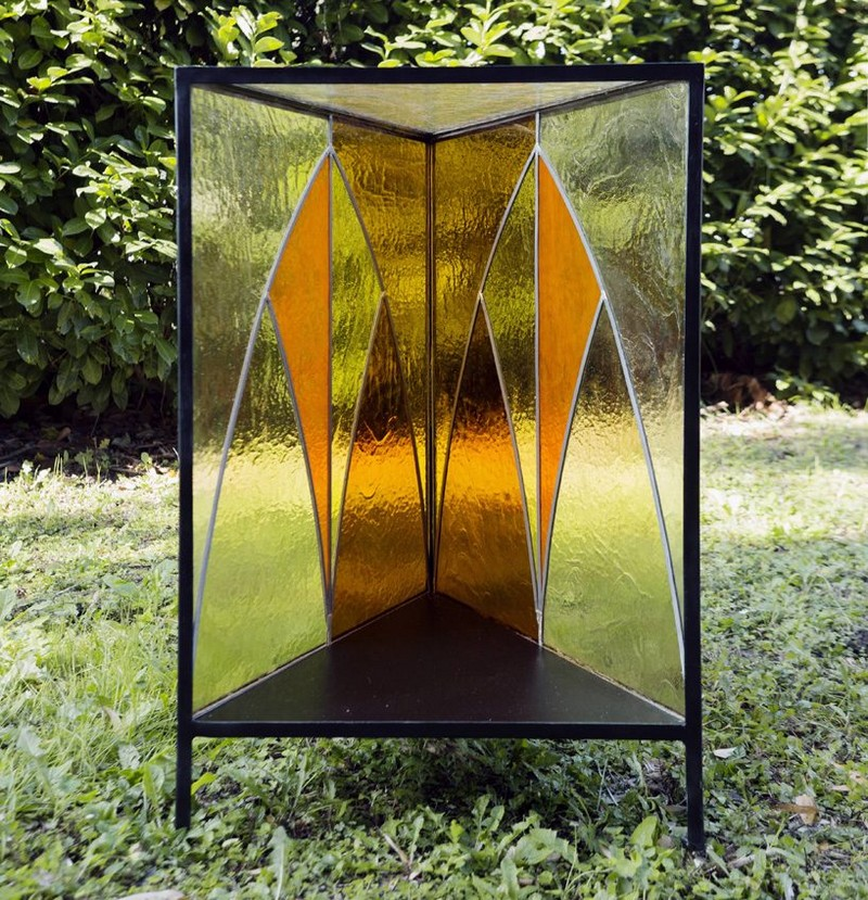 glass cabinet glass cabinet Cathedral Glass Cabinet By Antonio Aricò Cathedral Glass Cabinet By Antonio Arico  3