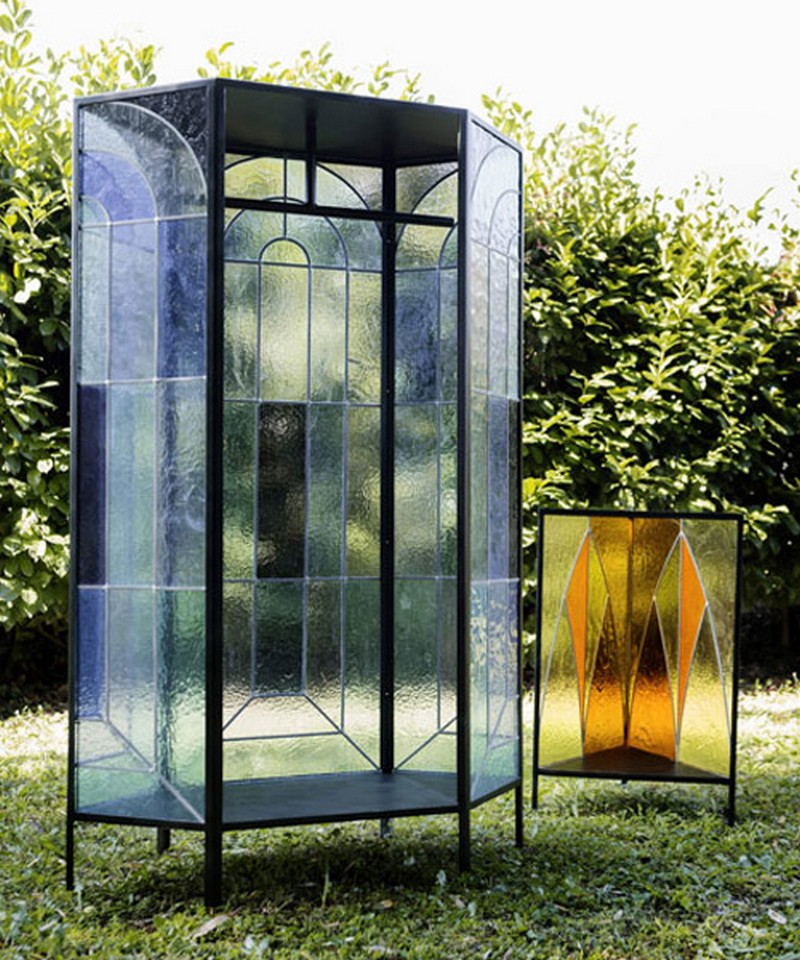 glass cabinet Cathedral Glass Cabinet By Antonio Aricò Cathedral Glass Cabinet By Antonio Arico  4