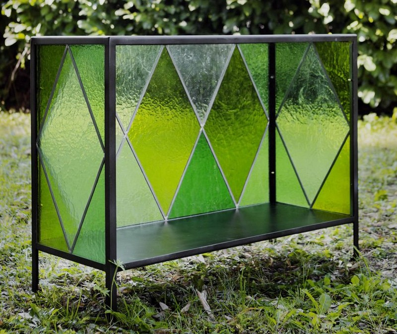glass cabinet glass cabinet Cathedral Glass Cabinet By Antonio Aricò Cathedral Glass Cabinet By Antonio Arico  6