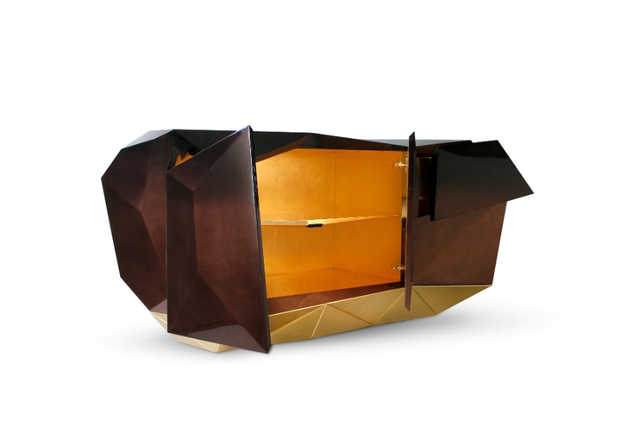 sideboard Diamond Sideboard Collection by Boca do Lobo diamond chocolate sideboard boca do lobo 05