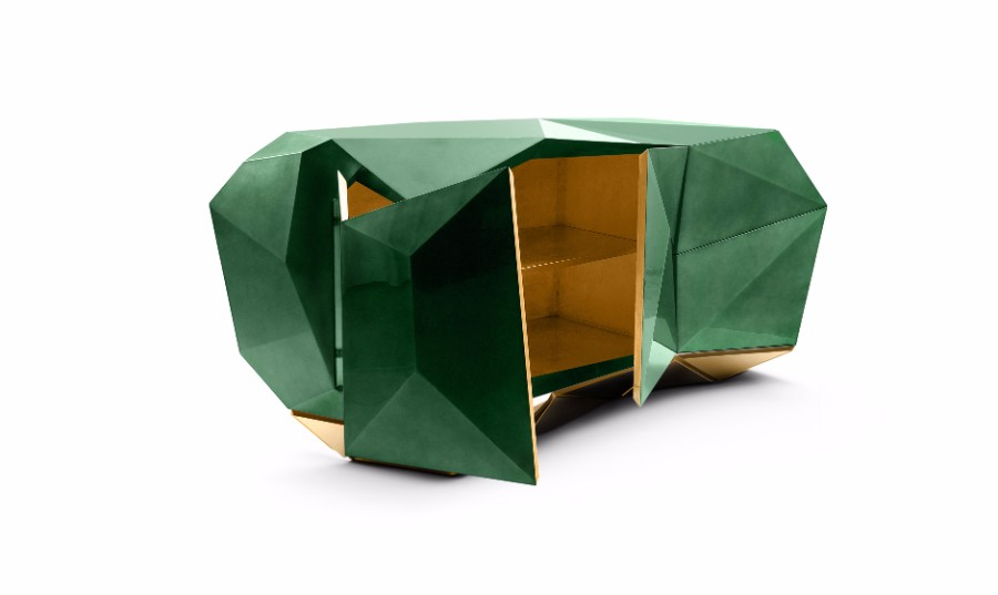 sideboard Diamond Sideboard Collection by Boca do Lobo diamond emerald 01