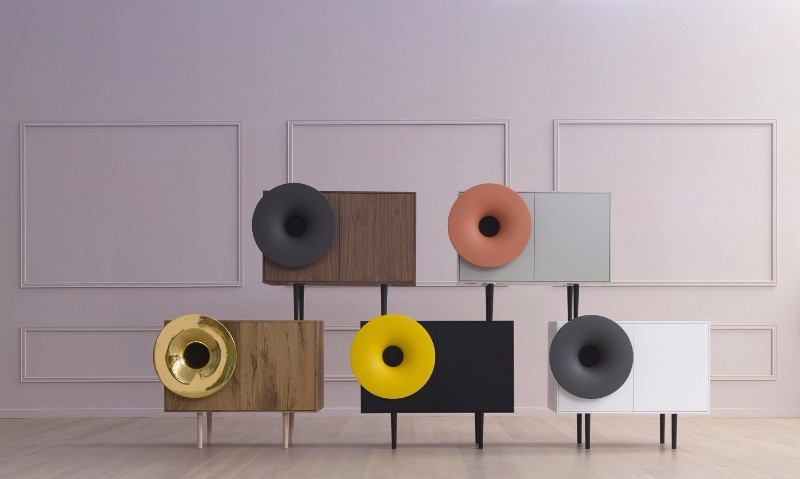Paolo Cappello Designs Wooden Sideboards With Speakers | www.bocadolobo.com #sideboards #modernsideboards #buffetsandcabinets #colorful #crativedesign #productdesign #interiordesign #speakers #luxury #luxurious #luxurybrands #exclusivedesign @buffetsandcabinets