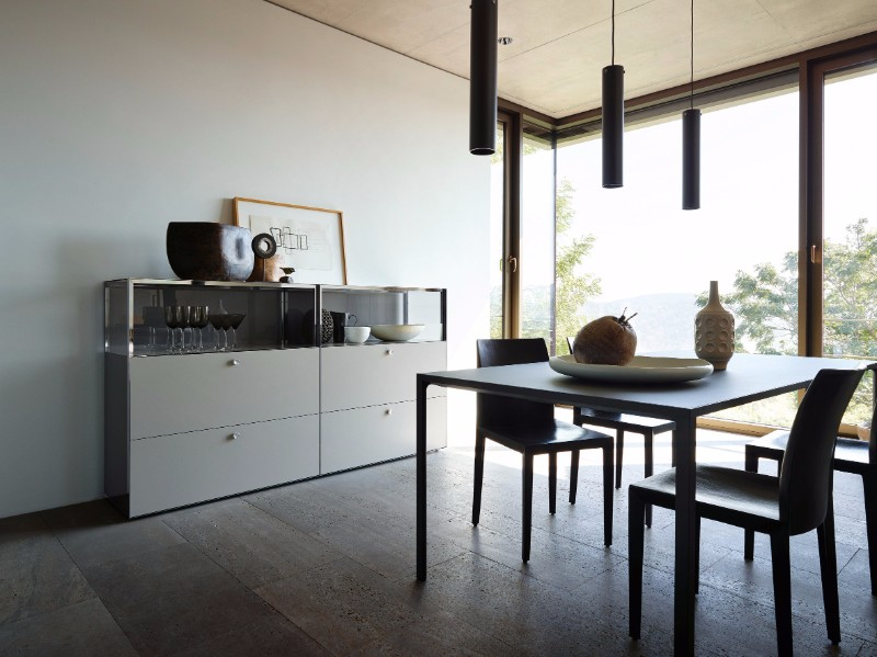 Tinted Glass Buffets and Cabinets Designed by Werner Aisslinger | www.bocadolobo.com #buffetsandcabinets #cabinets #buffets #sideboards #glass #productdesign #creativedesign #exclusivedesign #highendfurniture @buffetsandcabinets