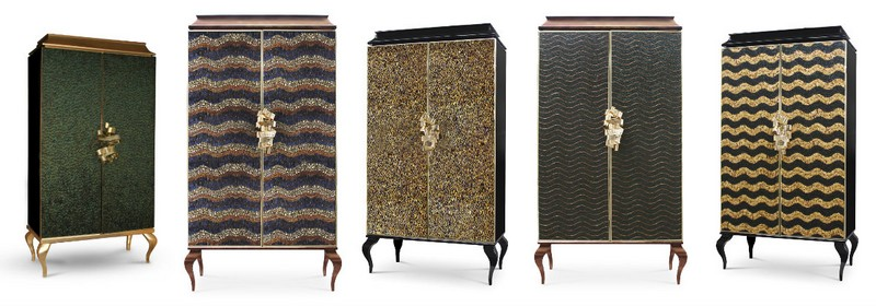 fabric finishes 15 Finest Cabinets with Fabric Finishes 10 koket armoire collection divine 1