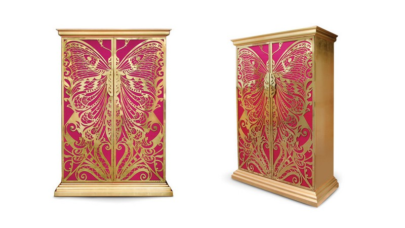 fabric finishes fabric finishes 15 Finest Cabinets with Fabric Finishes 11 mademoiselle cabinet koket