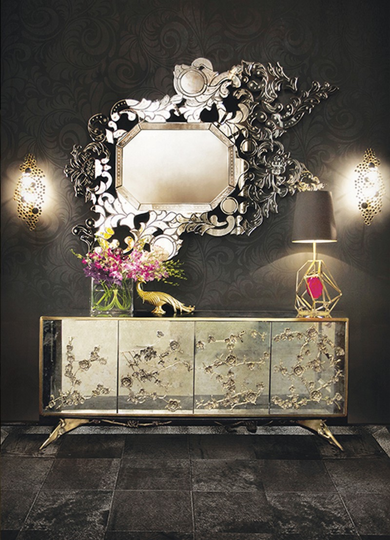 sideboards and mirrors Perfect Matches: Sideboards and Mirrors in your Home Decor addicta mirror spellbound cabinet koket