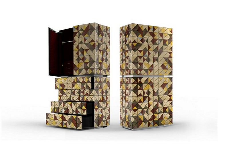 metal cabinets metal cabinets Top 10 metal cabinets for a luxury interior design pixel anodized boca do lobo 1