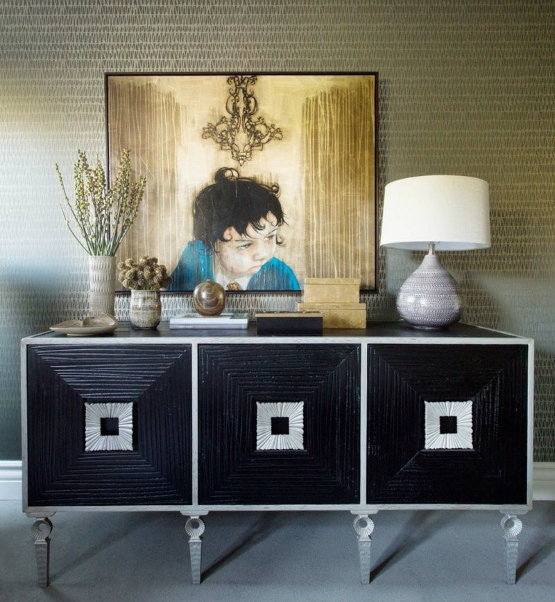Black Sideboards Black Sideboards in a Luxury Interior Design 12 Black Sideboards In A Luxury Interior Design jeff andrews