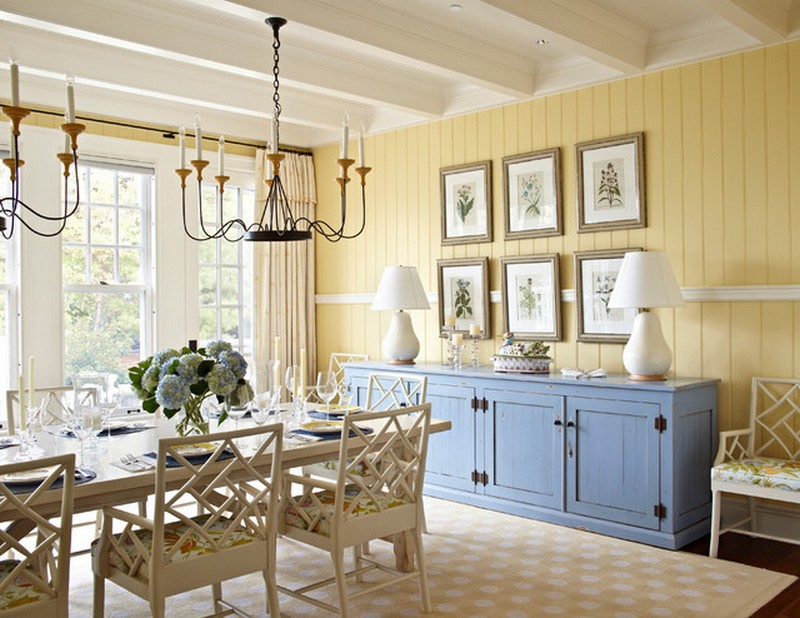 Dining areas Dining Areas How to Fit a Colored Sideboard in Neutral Dining Areas 2 How To Fit a Colored Sideboards In A Neutral Dining Areabeach style dining room