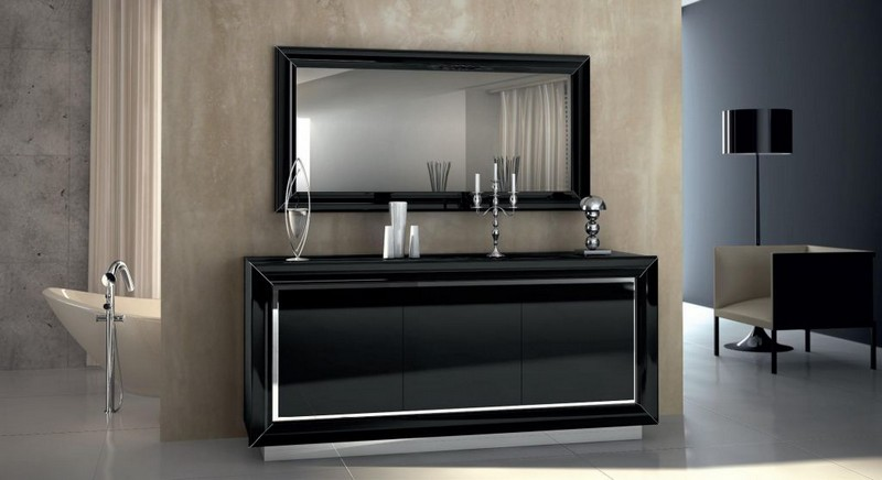 black sideboards Black Sideboards Black Sideboards in a Luxury Interior Design 4 Black Sideboards In A Luxury Interior Design