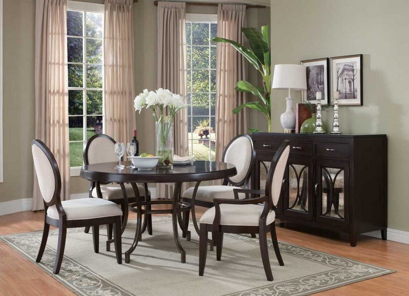 Dining areas Dining Areas How to Fit a Colored Sideboard in Neutral Dining Areas 4 How To Fit a Colored Sideboablack dining room buffet ashley furniture buffet Awesome dining room buffet ideas with dark color ideas with mirror doors complete wtih roun dining table