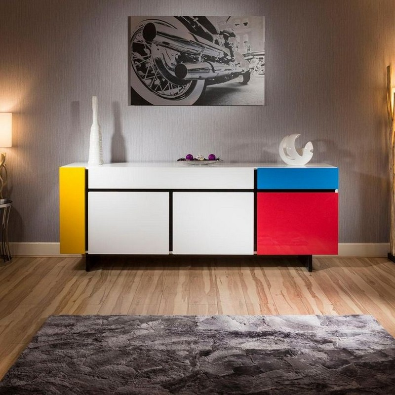 How To Fit A Colored Sideboard In Neutral Dining Areas