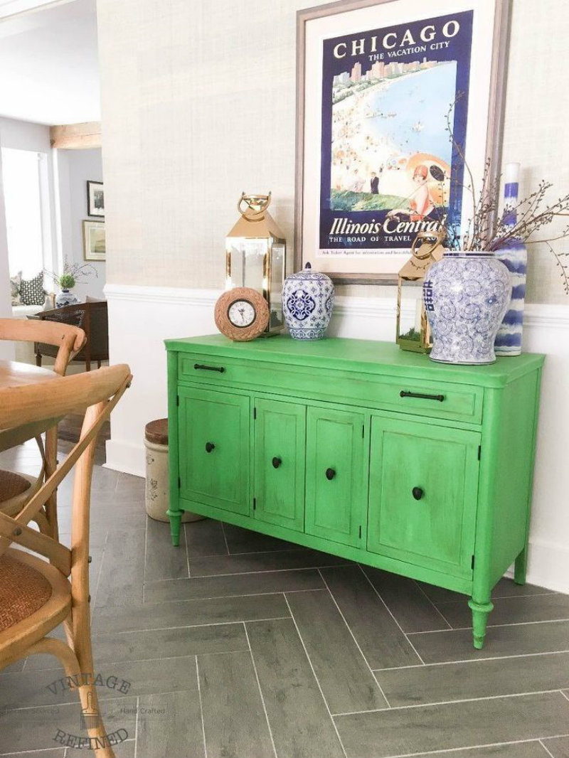 Dining Areas How to Fit a Colored Sideboard in Neutral Dining Areas 9 How To Fit a Colored Sideboard In A Neutral Dining Area 1