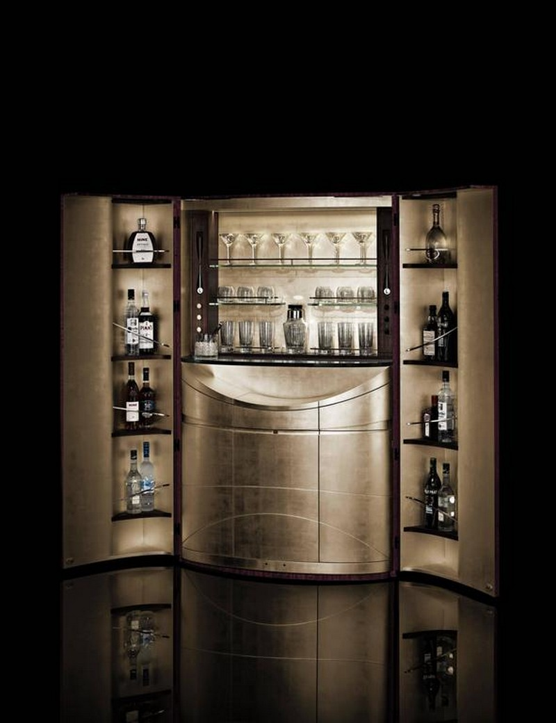 bar cabinet designs bar cabinet designs Top 10 Bar Cabinet Designs For You Living Room 9 Tectonic Bar purple eucalyptus and rose gold 2  l