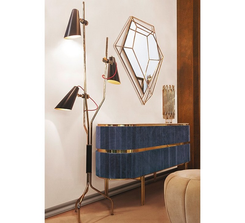 sideboard designs 50 Most Creative Sideboard Designs edith sideboard diamond small mirror zoom 2