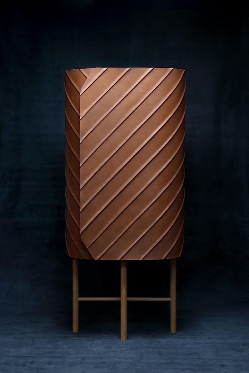 Exclusive Designs Exclusive Designs: Pierre Charrié's Leather Cabinet Design 2 Pierre Charri  s Leather Cabinet Design