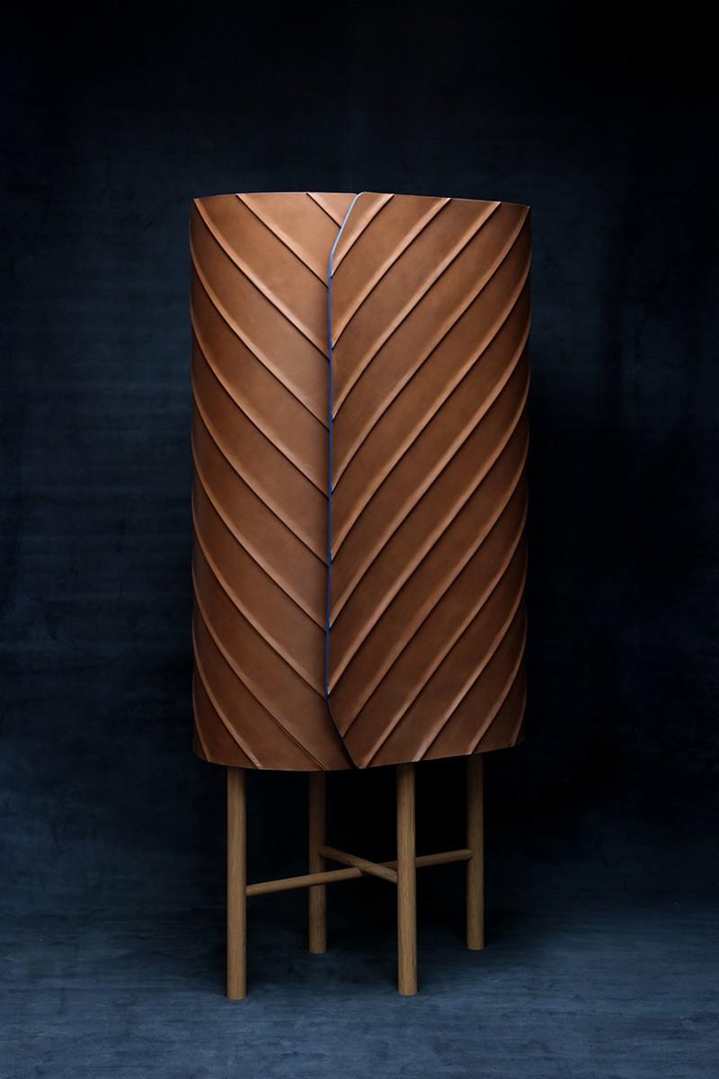 Exclusive Designs Exclusive Designs: Pierre Charrié's Leather Cabinet Design 4 Pierre Charri     s Leather Cabinet Design