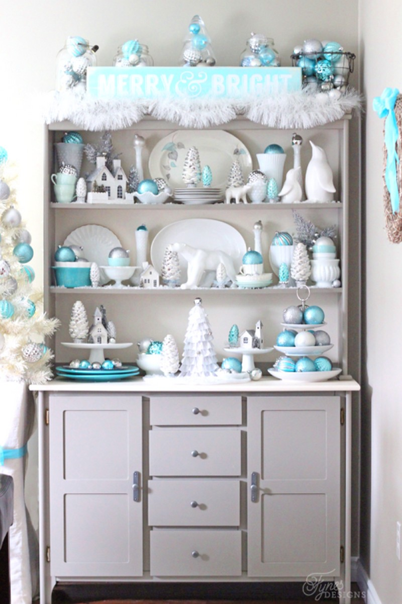christmas decoration ideas christmas decoration ideas Christmas Decoration Ideas from Top Interior Designers 6 blue and silver christmas hutch