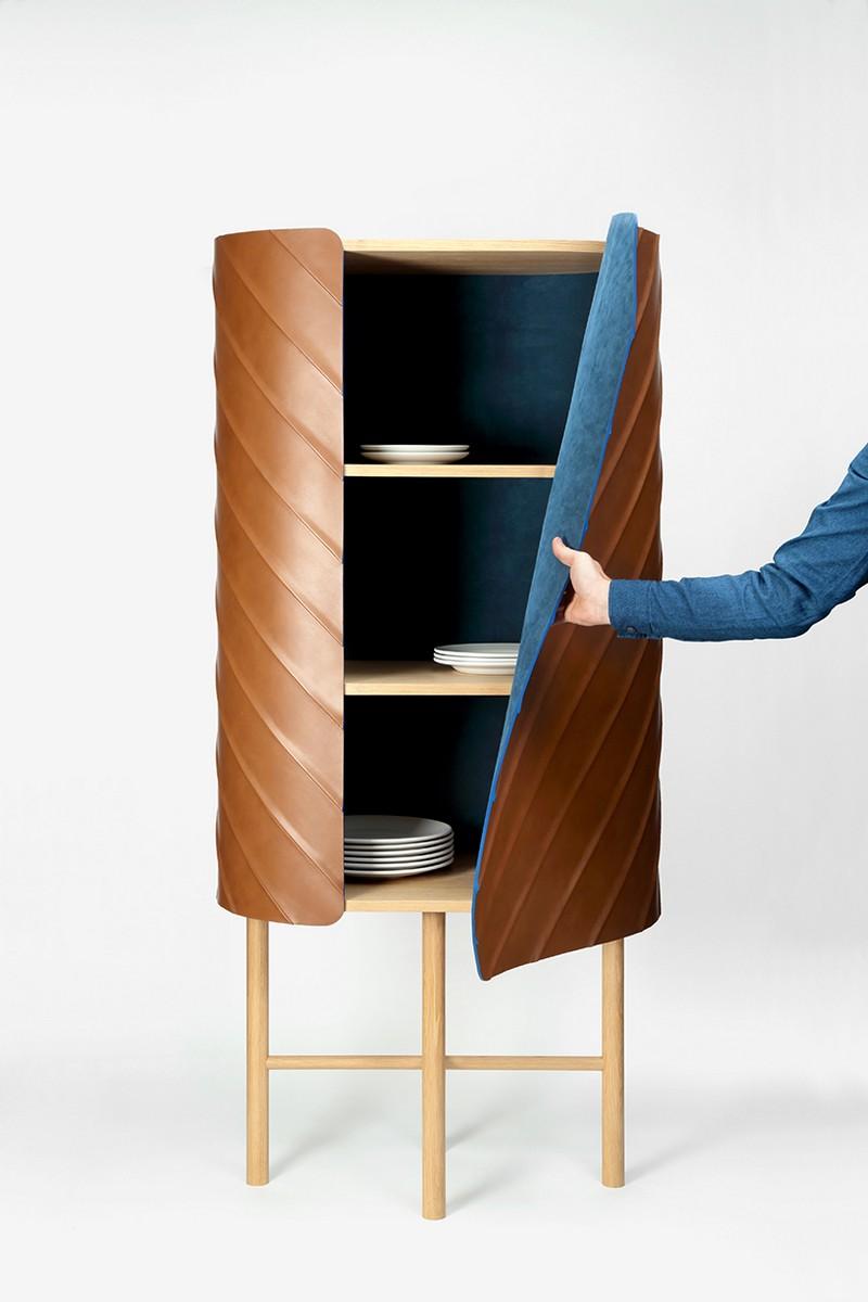 Exclusive Designs Exclusive Designs: Pierre Charrié's Leather Cabinet Design 9 Pierre Charri     s Leather Cabinet Design