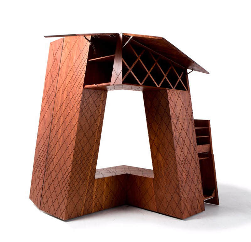cabinet design The OMA Building-Look Cabinet Design By Naiham Li oma3