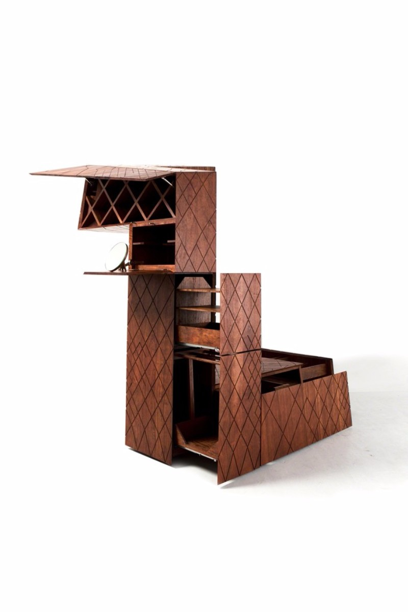 cabinet design The OMA Building-Look Cabinet Design By Naiham Li oma4