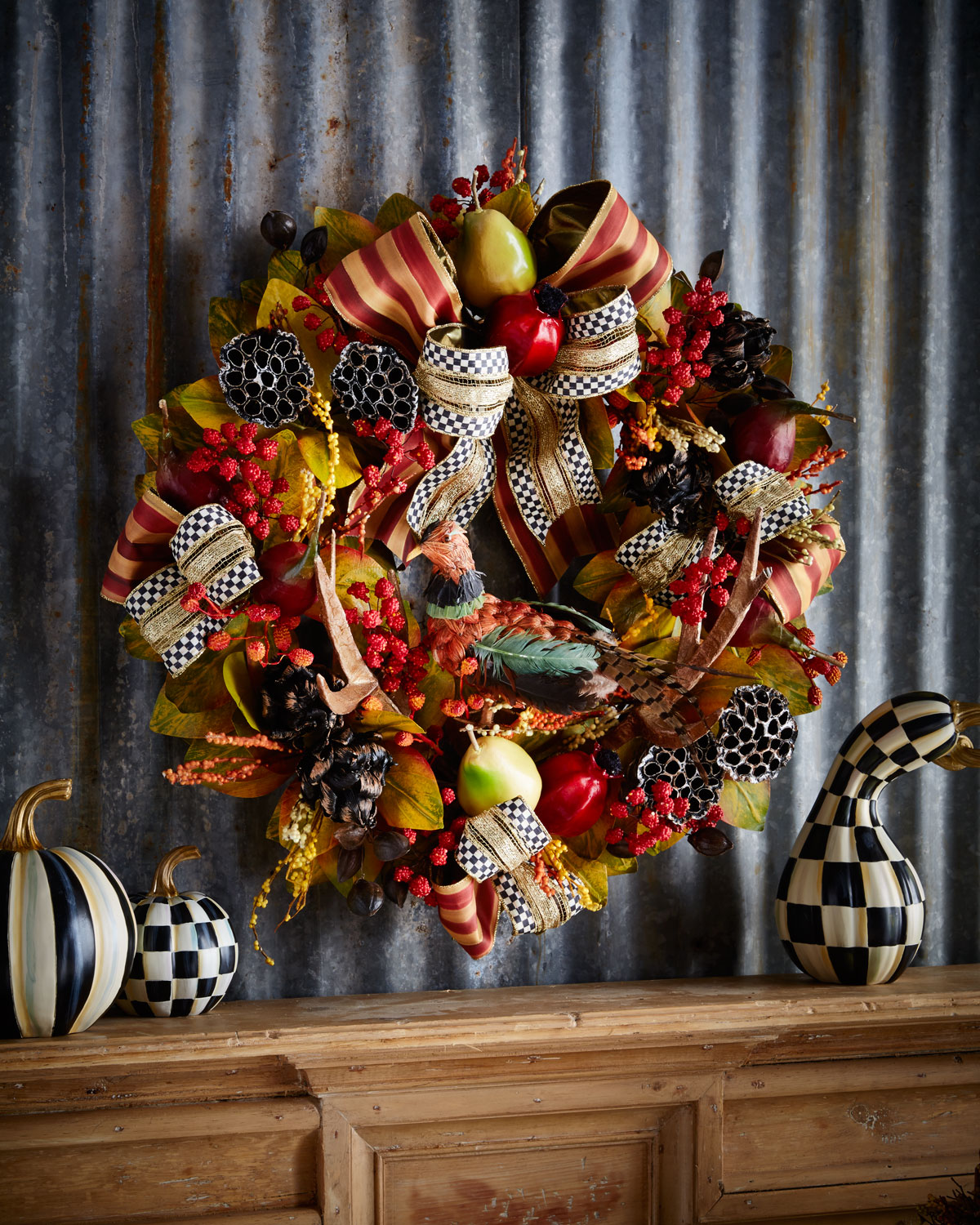 thanksgiving 10 Striking Top Interior Designers Thanksgiving Sideboard Decorations wreath