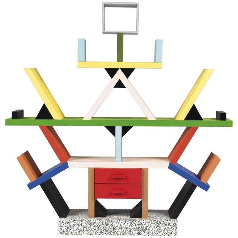 Ettore Sottsass ettore sottsass The Amazing Postmodern Design on Ettore Sottsass' Sideboards 2 Ettore Sottsass Carlton Bookcase
