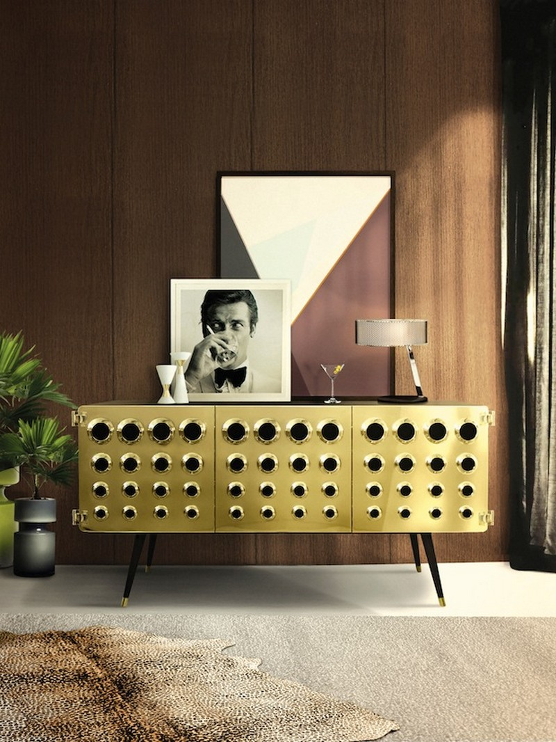2018 trends 2018 trends 2018 Trends: The Return of Brass with Amazing Sideboards 3 Btrends 2018 Monocles sideboard