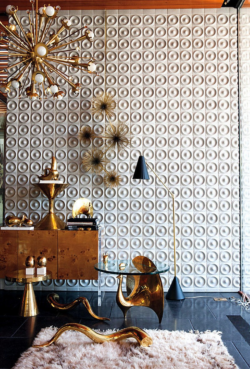2018 trends 2018 Trends: The Return of Brass with Amazing Sideboards 4 hot metallic sheen in home decor the return of brass