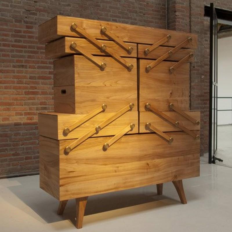 cabinet design Cabinet Design The Amazing Sewing Box Cabinet Design by Kiki Van Eijk dezeen Sewing box by Kiki van Eijk 1