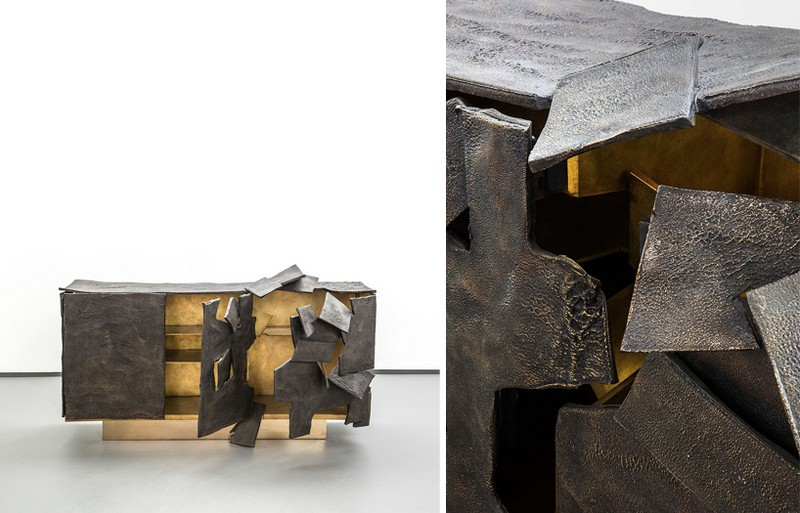 best furniture designs Best Furniture Designs: Vincent Dubourg's metallic Sideboard Design vincent dubourg carpenters workshop gallery designboom 01