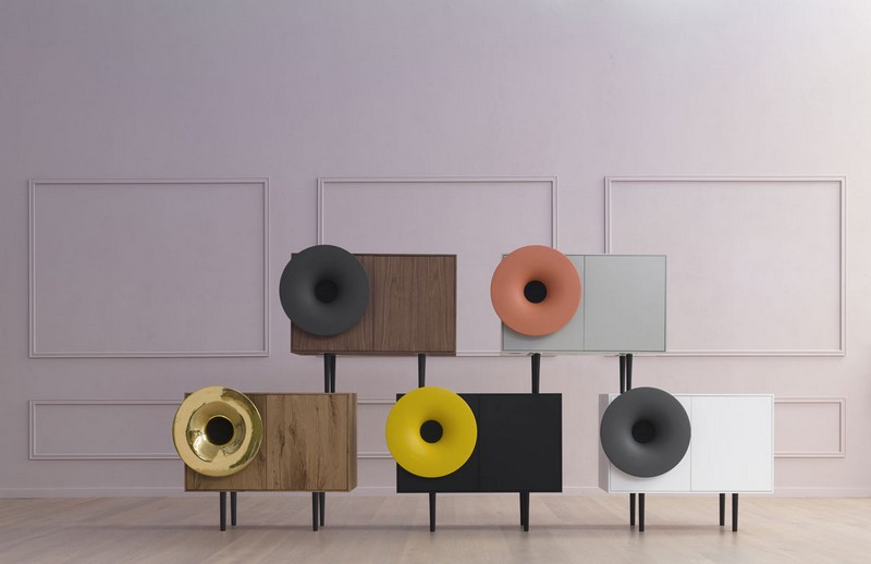 Cabinet Designs Cabinet Designs Unique Cabinet Designs: The Caruso Cabinet  by Paolo Cappello Design 1 Paolo Cappello Miniforms Caruso Speaker