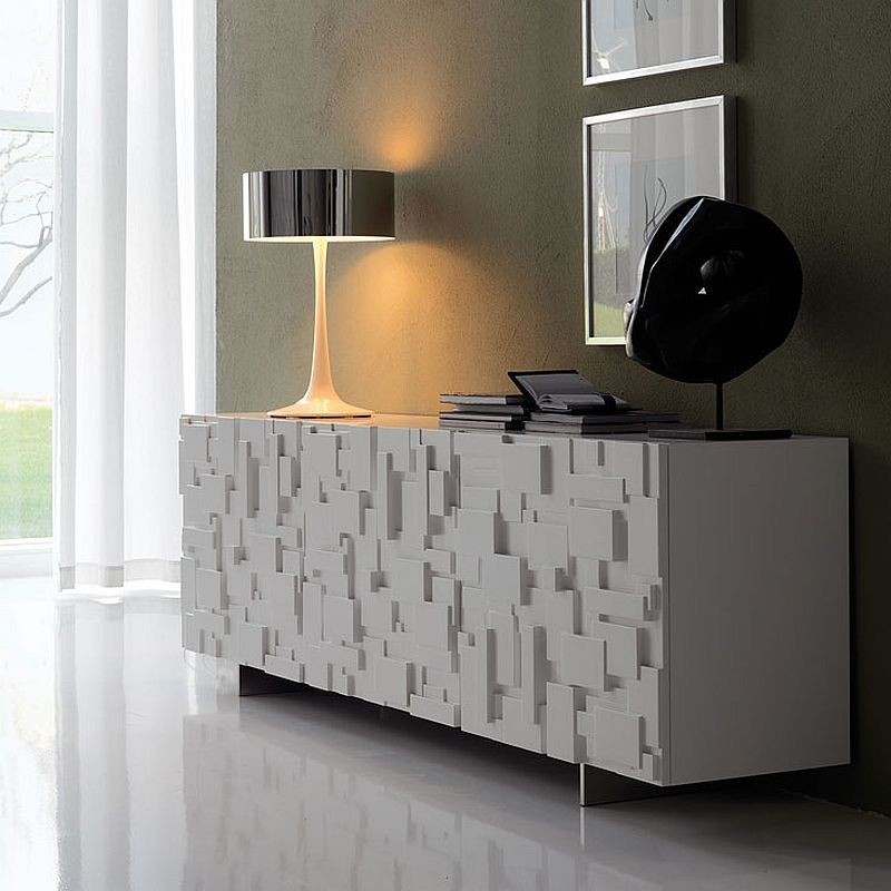 contemporary sideboards contemporary sideboards 5 Truly Unique Contemporary Sideboards Designs 13 Labyrinth sideboard in white with textured finish