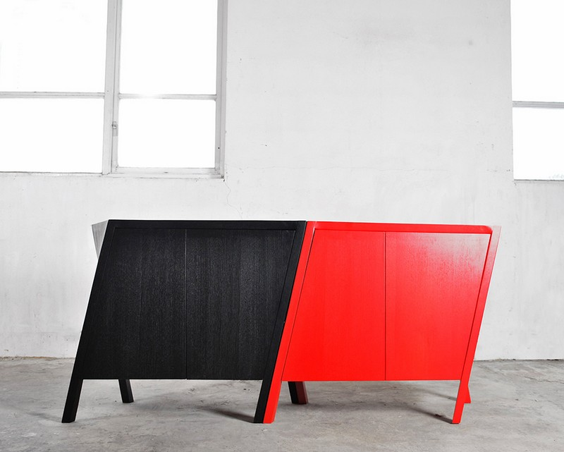 cabinet design Cabinet Design The Walking Cabinet Design by Markus Johansson Design Studio 3 Walking Cabinet blackred