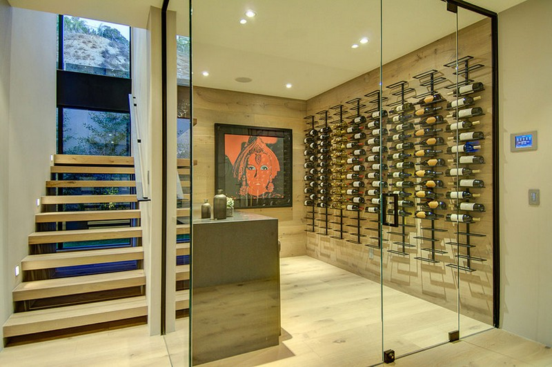 wine racks Wine Racks Amazing Wine Racks and Cabinets to Complete your Decoration 1 1823 North Doheny by Meridith Baer Home
