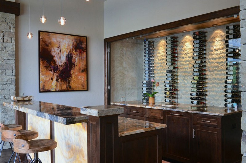 Wine Racks Amazing Wine Racks and Cabinets to Complete your Decoration 12 Rustic Modern Wine Bar by AVID Associates LLC