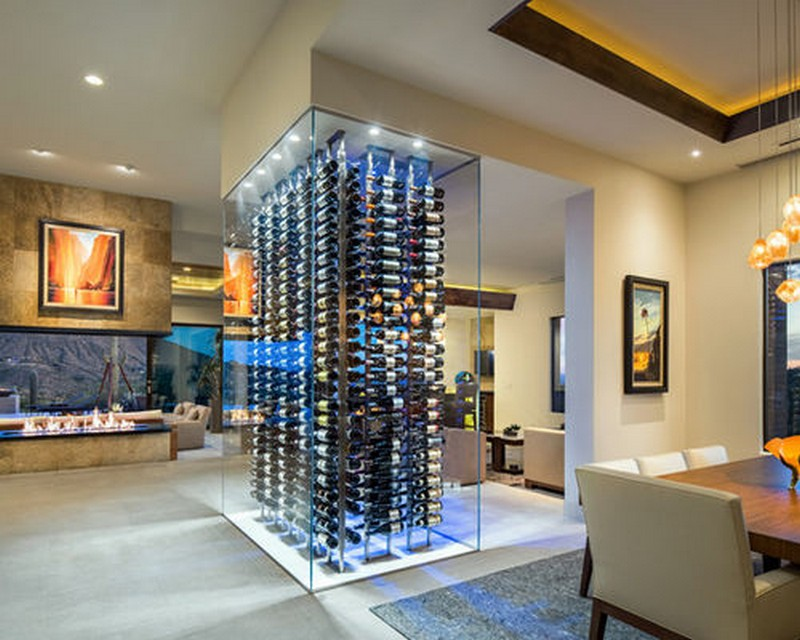 Wine Racks Amazing Wine Racks and Cabinets to Complete your Decoration 15WineCellar4