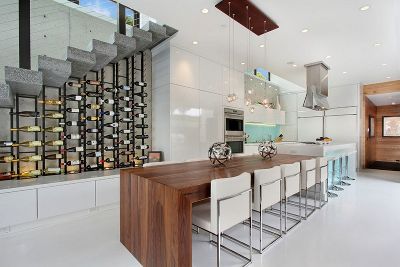 Wine Racks Amazing Wine Racks and Cabinets to Complete your Decoration 3 604 Acacia Brandon Archit by 604 Acacia Brandon Architects Patterson Construction