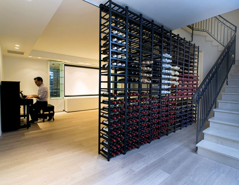 Wine Racks Amazing Wine Racks and Cabinets to Complete your Decoration 4 ETHAN CARMEL ARCHITECTS by Yaniv Schwartz Photographer