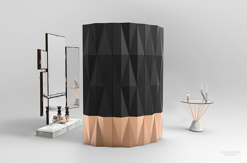 sideboards and buffets 10 Sideboards And Buffets With Vibrant Tones 7 paravent gueridon jimmy delatour design lab