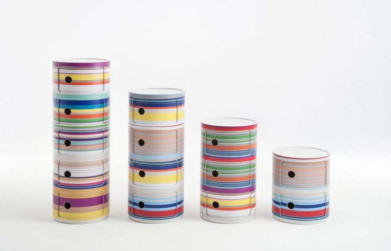 kartell The Stunning Componibili Collection by Kartell Componibili Anniversary Kartell 7 Missoni 810x521