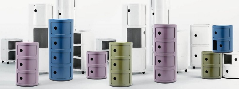 kartell The Stunning Componibili Collection by Kartell Kartell Componibili 16 zu 6