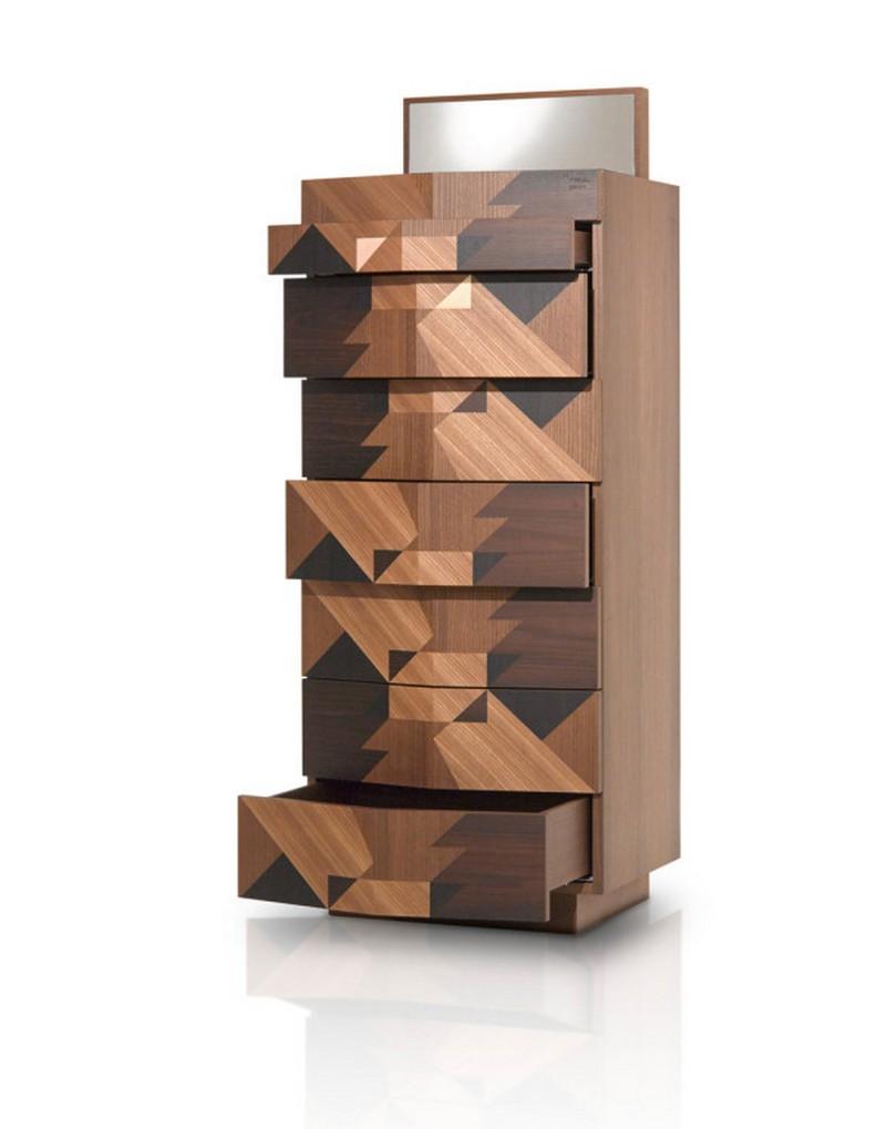Alessandro Mendini The Cabinet Design with Geometric Wooden Inlays by Alessandro Mendini Porro Alessandro Mendini Sideboard 4 MAGGIO