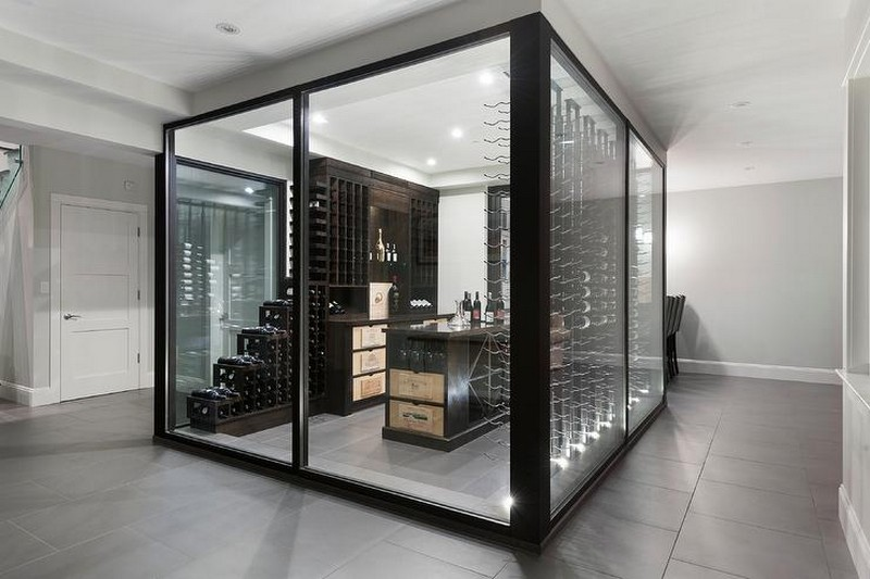 Wine Racks Amazing Wine Racks and Cabinets to Complete your Decoration basement center of the room glass wine cellar