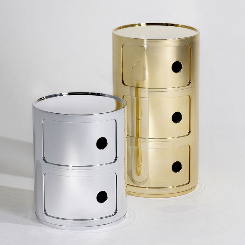 kartell The Stunning Componibili Collection by Kartell gold componibili kartell xl5
