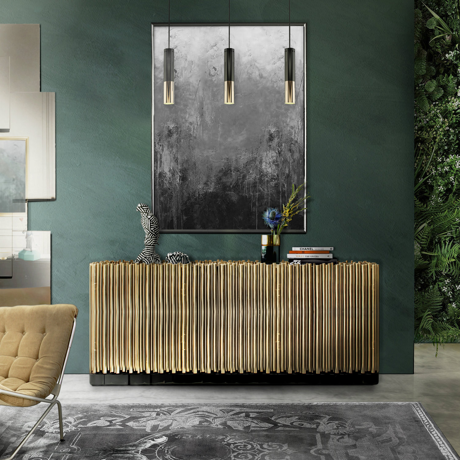 2018 trends 2018 Trends: The Return of Brass with Amazing Sideboards symphony sideboard