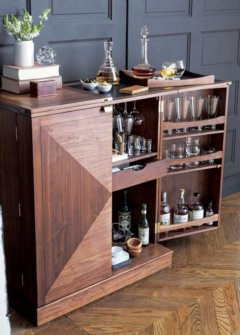 bar cabinets 10 Bar Cabinets For Your Weekend Party 1 maxine bar cabinet crate barrel