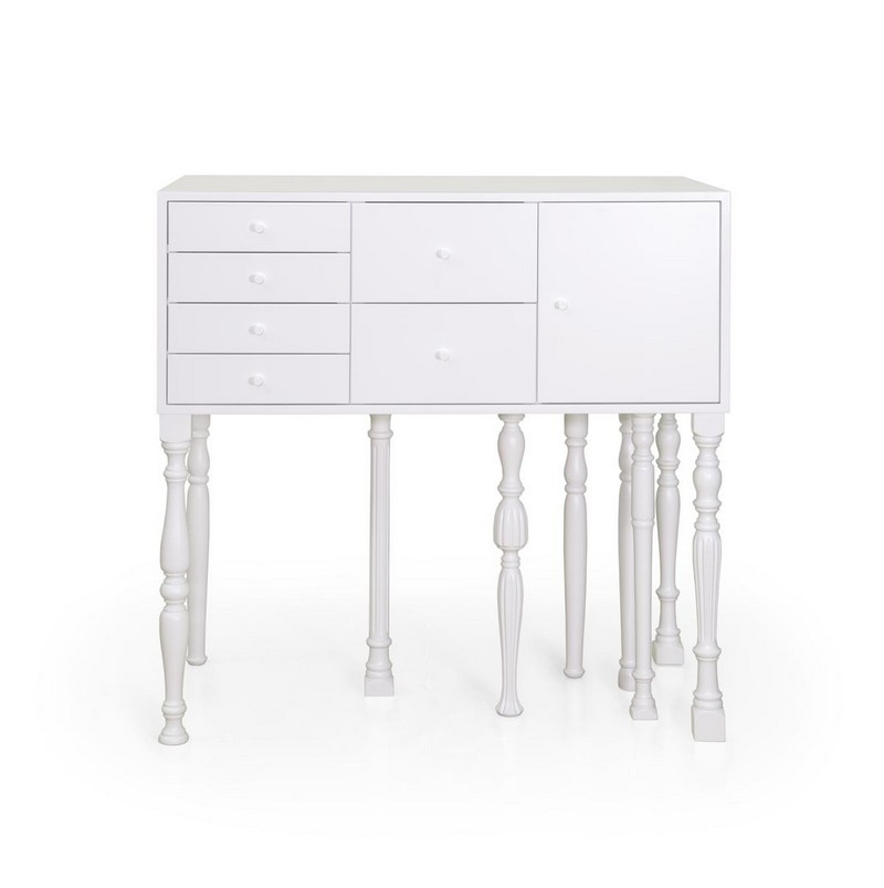 Cabinet design The Eclectic Squid Cabinet Design by Moloform 11 All white furniture