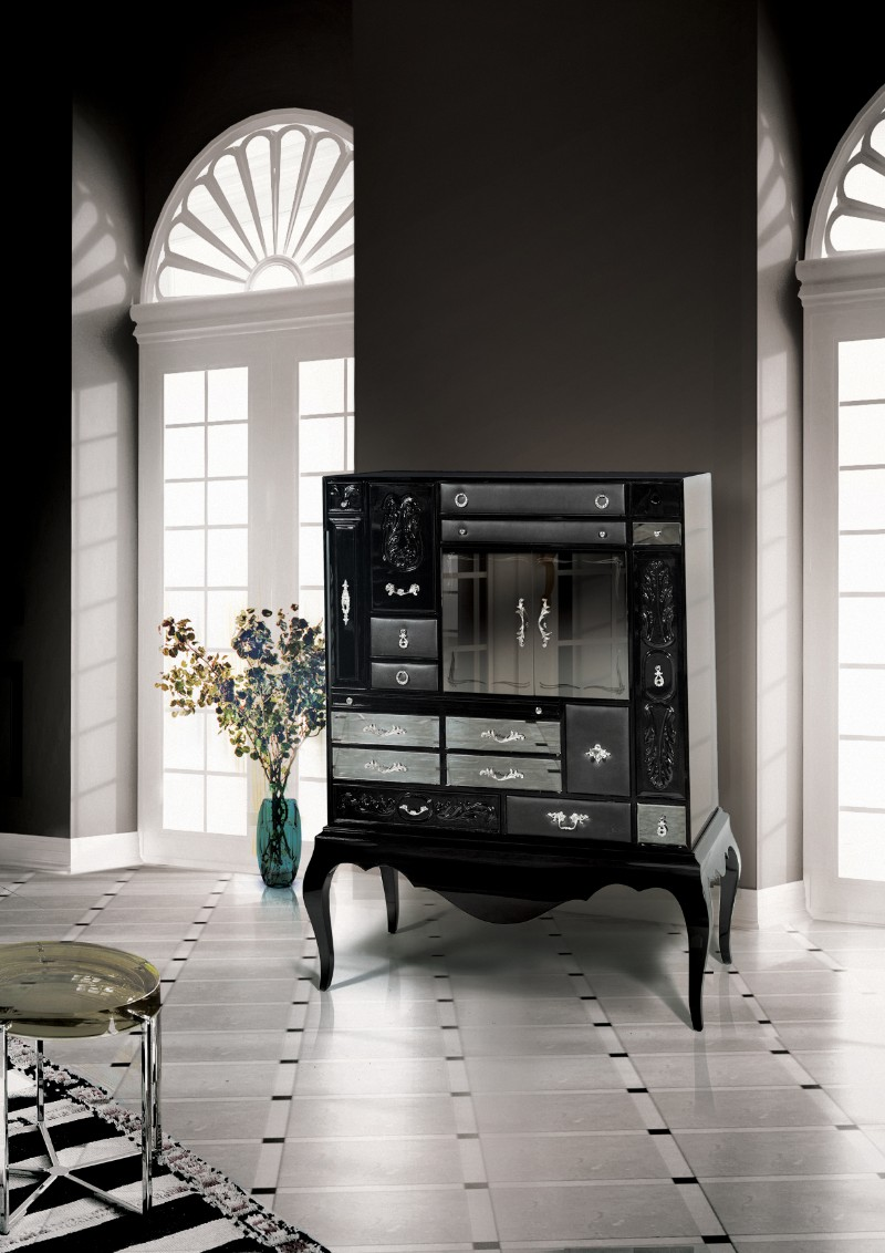 Bar cabinets Discover 10 amazing bar cabinets Mondran Black by Boca do Lobo