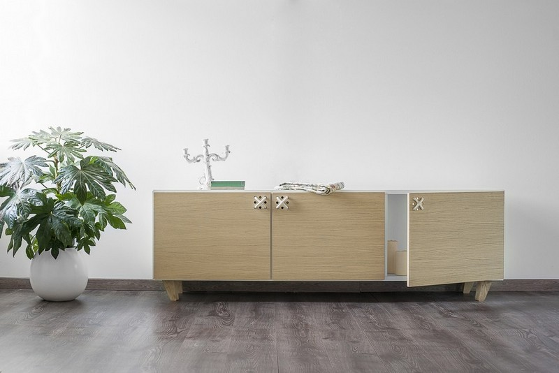 furniture collection Furniture Collection The Playful Cabinets of Nodo Furniture Collection by Andrea Brugnera NODO BUFFET AMB ANDREA BRUGNERA DESIGNER FORMABILIO